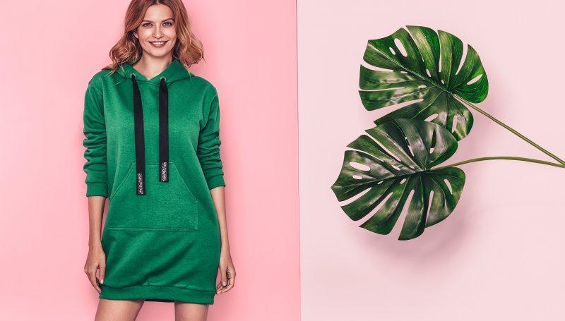 5f2ee8c5ec Idealna na jesienne chłody sukienka z długim rękawem - bypoznan.pl